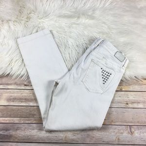 Tommy Hilfiger Cropped Capri Jeans Studded White